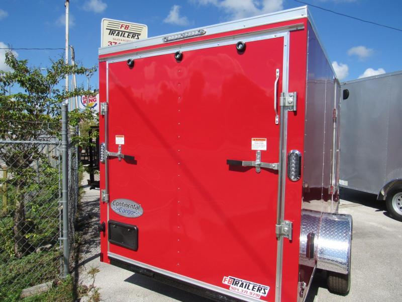 2020 Continental Cargo Red Enclosed Cargo Trailer