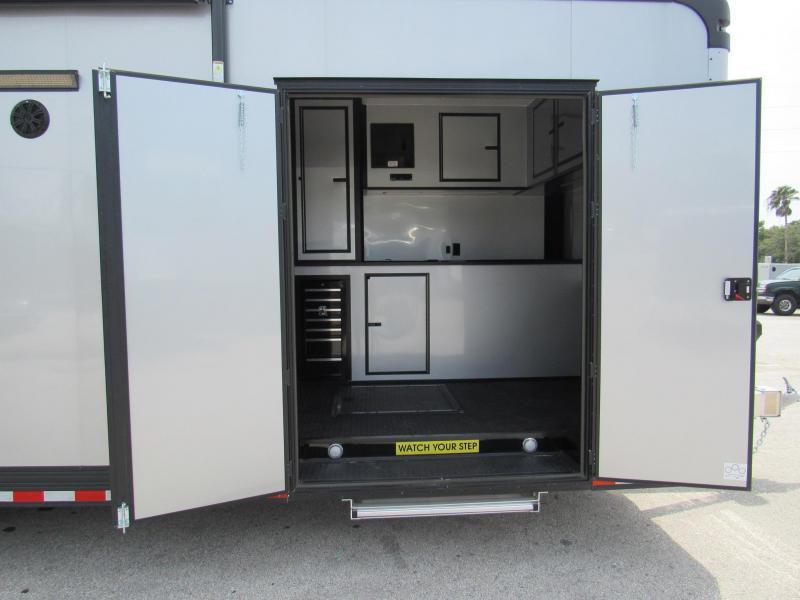 2020 Cargo Mate 34 ft Aluminum Frame Black Out Car / Racing Trailer