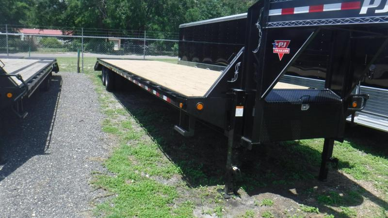 2019 40' Classic Flatdeck with Duals By PJ Trailers MONSTER RAMPS