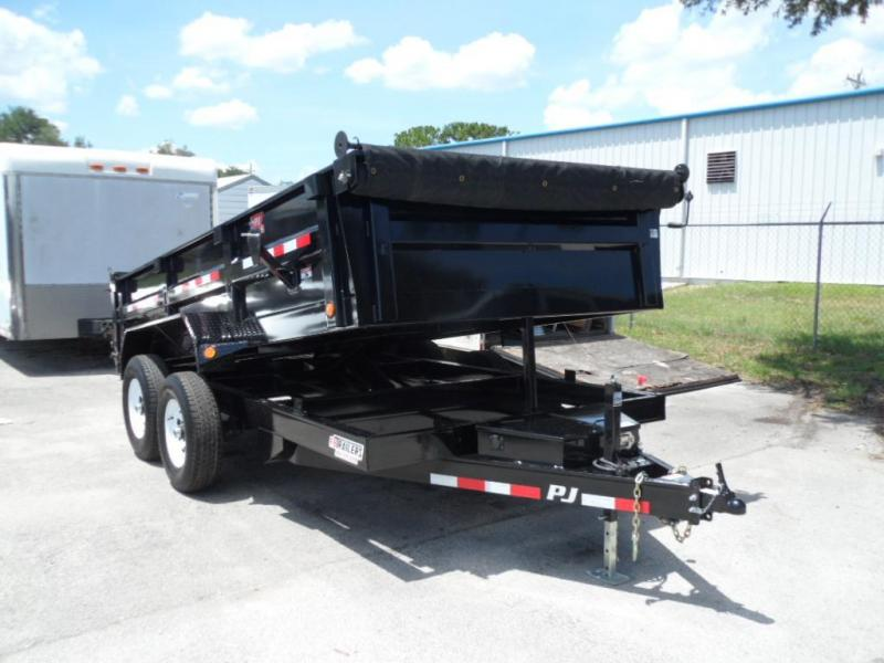 2018 7x 14 Low Pro Dump Trailer by PJ Trailers