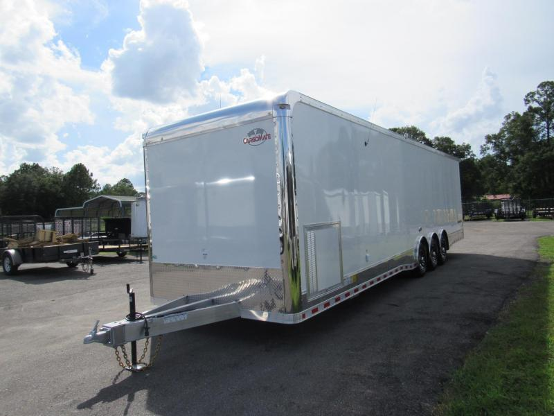 2019 Cargo Mate 34 ft Aluminum Frame with Rear Wing Car / Racing Trailer