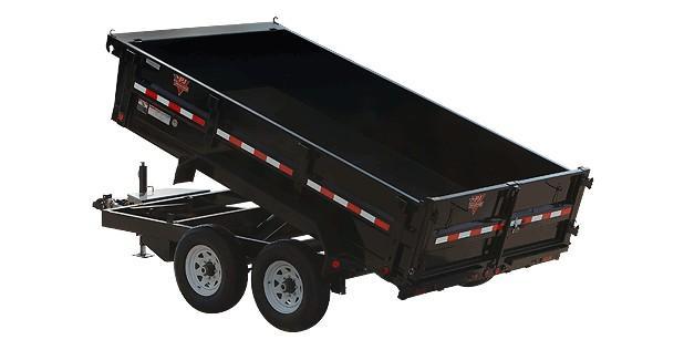 "2018 Pj 12' X 72"" Tandem Axle Dump"