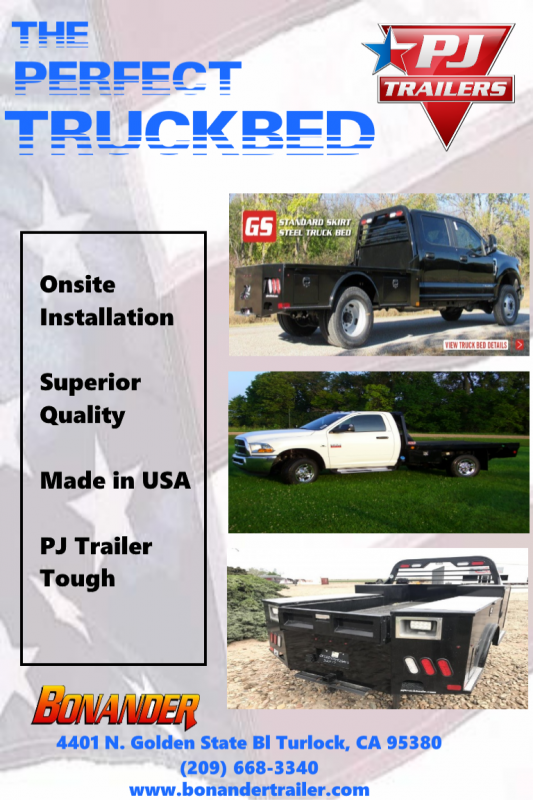 2018 PJ Trailers GS 9.4/92/60/34 2RTB Truck Bed