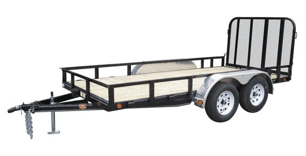 2017 PJ Trailers 10'X77 Single Axle Channel Utilty