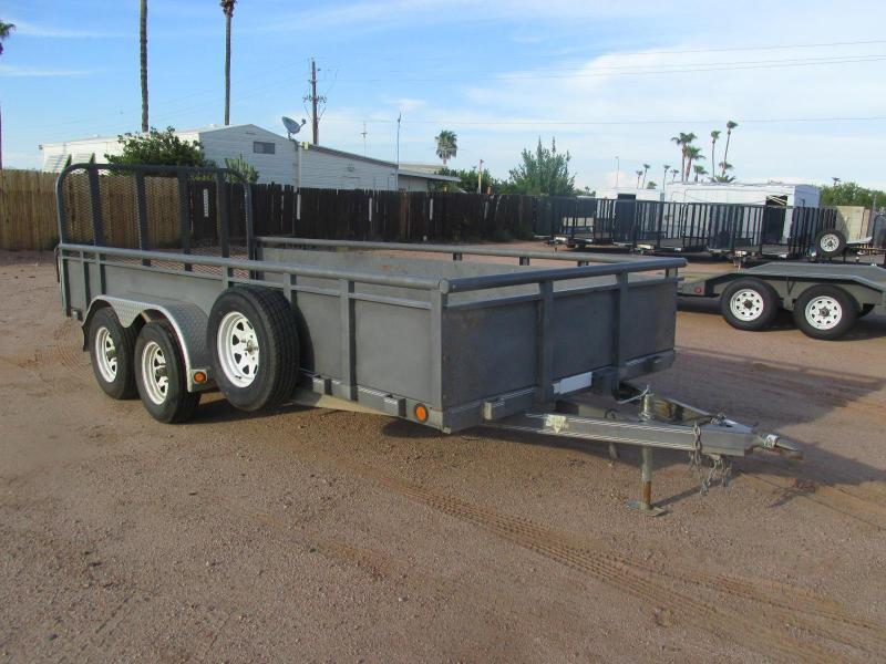Used 2008 PJ Trailer 16 x 77 Utility Trailer w/ 2' Solid Metal SIdes
