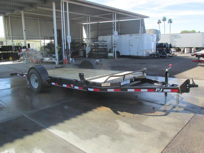 2017 PJ Trailers 16 Single Axle HD Tilt Equipment Trailer