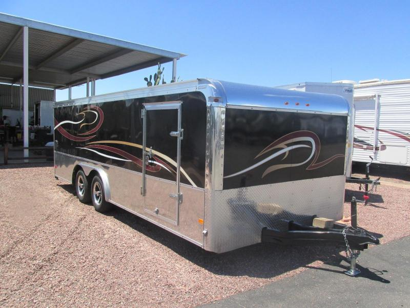 JUST ARRIVED USED! 2016 Haulmark 8.5' X 20' Low Haul Motorcycle/ Race Car Hauler