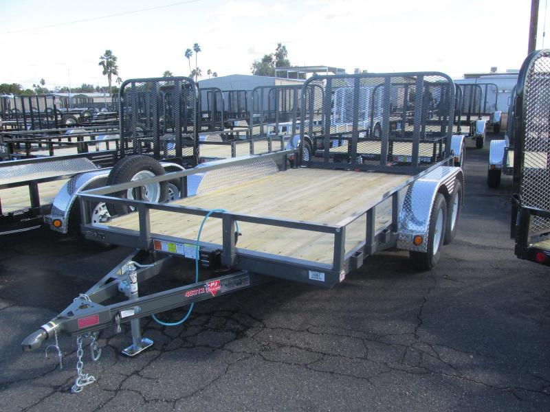 2017 PJ Trailers 12 x 83 Channel Utility