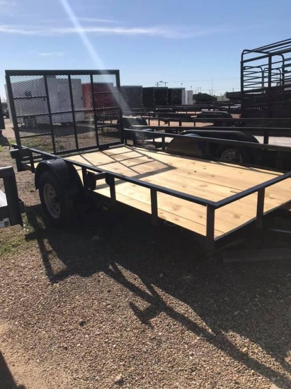 2019 Salvation 77x12 Utility Trailer