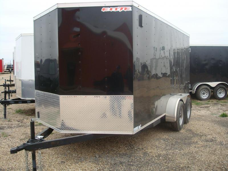 2018 Salvation Trailers Black 7X14TA Enclosed Cargo Trailer