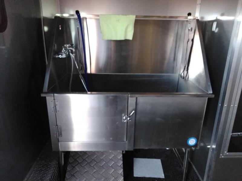 2019 DOG GROOMING 8X12 Restroom / Shower Trailer