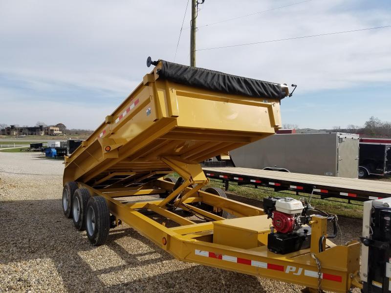2018 PJ 83X16 PJ 24K LOW-PRO GAS/HYDRAULIC Dump Trailer