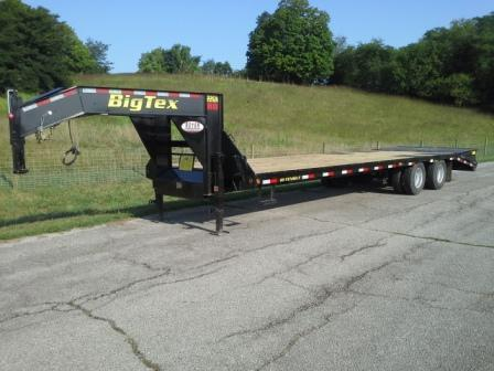 Big Tex Trailers 22GN 25+5 Flatbed Trailer w/MEGA RAMPS