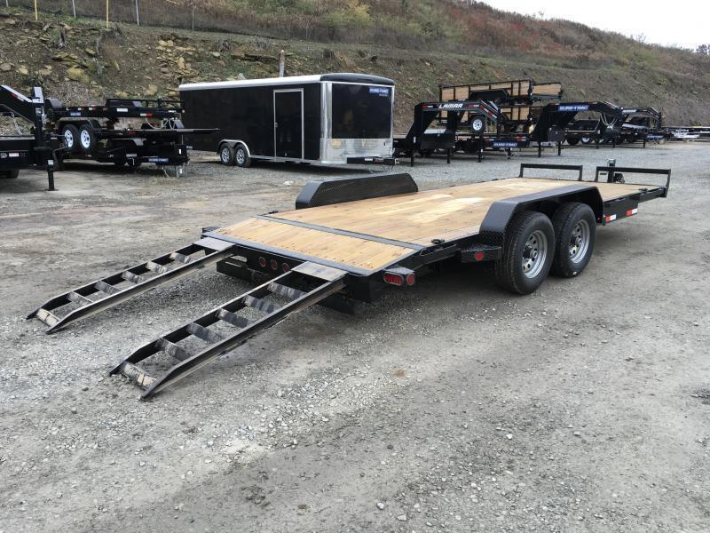 2018 Iron Bull 7x18' Wood Deck Car Trailer 9990# GVW