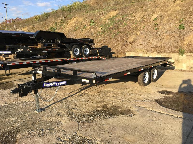 2018 Sure-Trac 102x16+4 Pop Up Dove Deckover Trailer 9900# GVW
