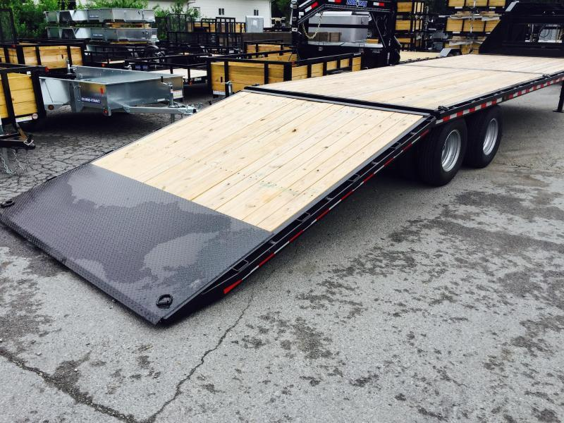 "2018 Sure-Trac 102""x22'+10' Hydraulic Dovetail Deckover Trailer 22500# GVW - MUD FLAPS"