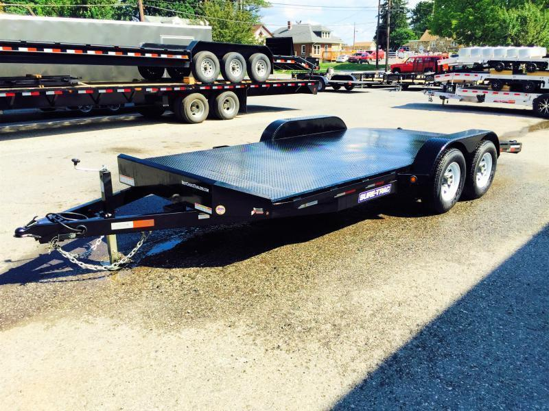 2018 Sure-Trac 7x20' Steel Deck Car Hauler 9900# GVW - LOW LOAD ANGLE