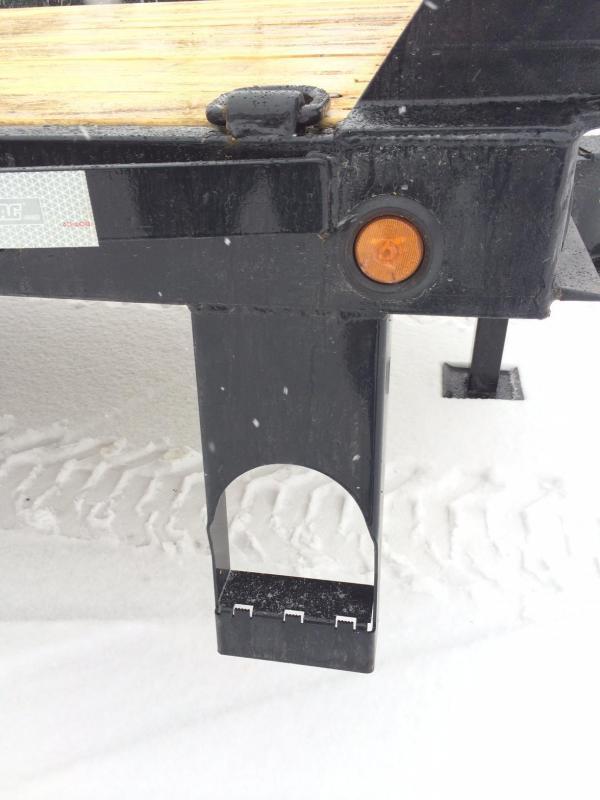 2017 Sure-Trac 102x25+5 22K Beavertail Deckover Trailer Pierced Frame