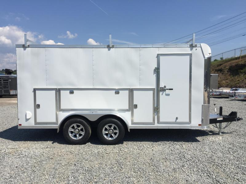 2017 Sure-Trac 7x16 Contractor Pro Enclosed Cargo Trailer 9900# GVW