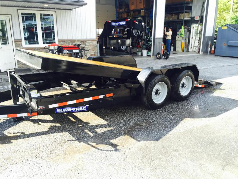 2016 Sure-Trac Gravity Tilt Bed Equipment 7'X18' 16000# GVW