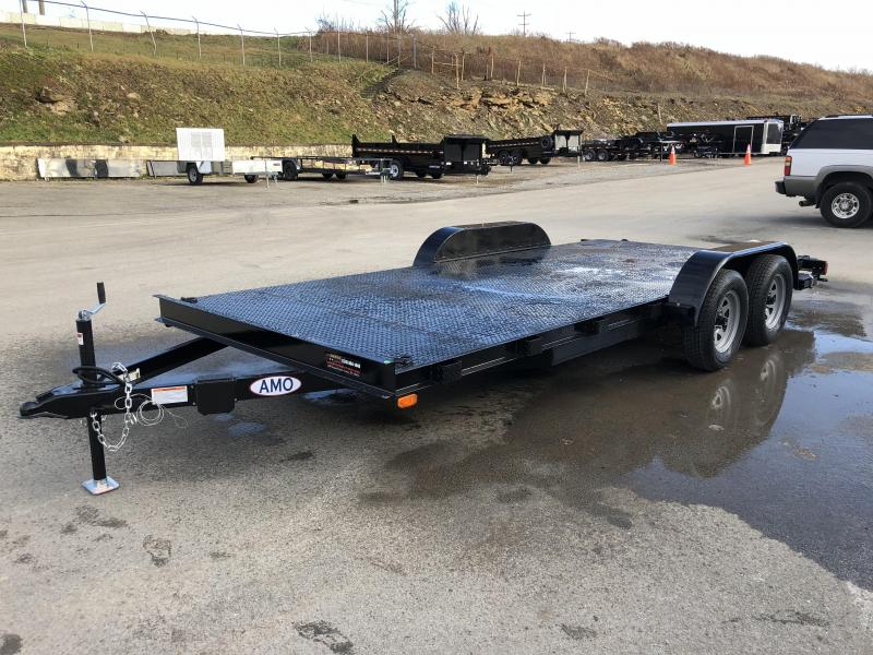 2018 AMO 7x18' Steel Deck Car Trailer 7000# GVW