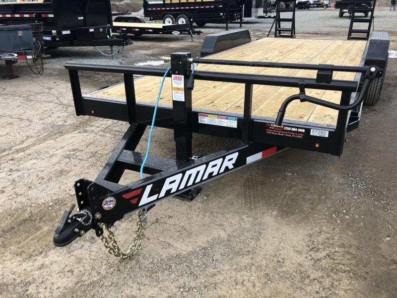 2018 Lamar 7x20' H6 Equipment Trailer 14000# GVW