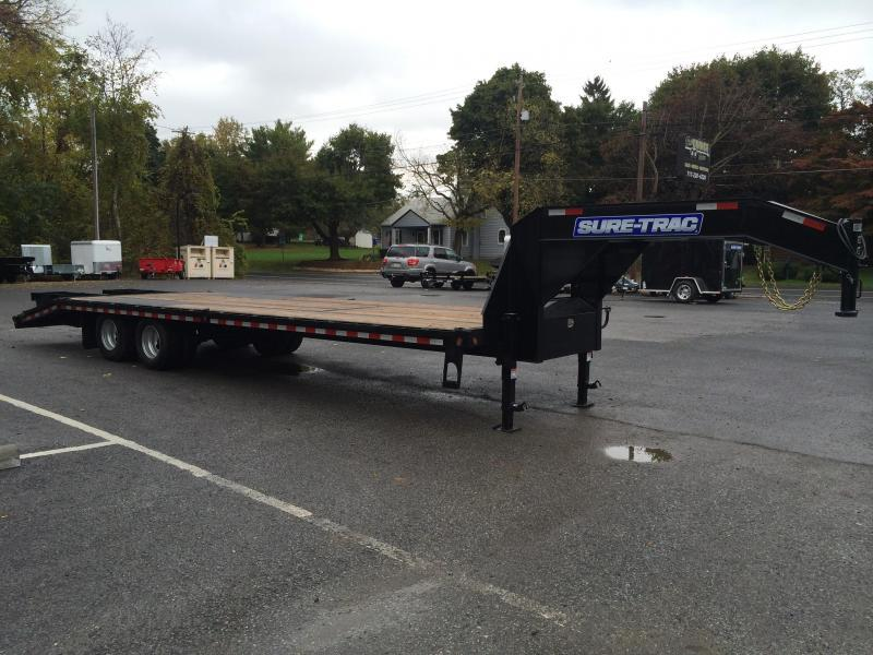 2016 Sure-Trac 102x25+5 22K Beavertail Deckover Trailer Pierced Frame