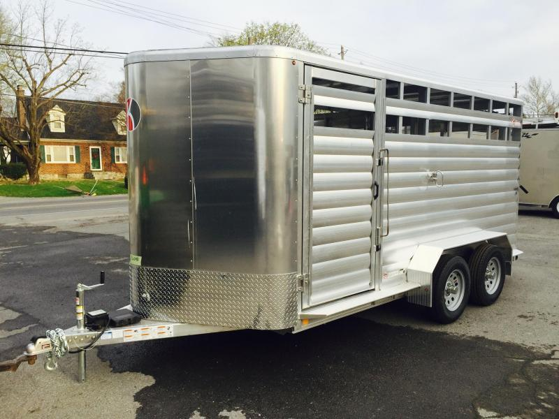 2016 Kiefer Kruiser 16' All-Aluminum Livestock Trailer ALUMINUM WHEELS & ALUMINUM SPARE