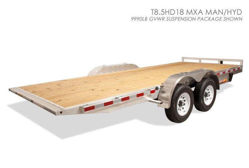 2017 H&H 7x18' 7000# Manual Tilt Aluminum Car Hauler