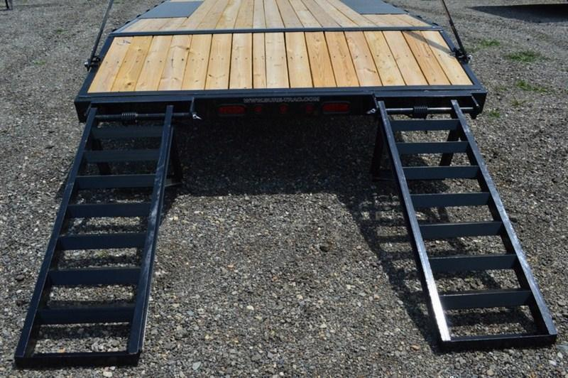 2018 Sure-Trac 102x17+3 9990# Deckover Equipment Trailer STAND UP RAMPS