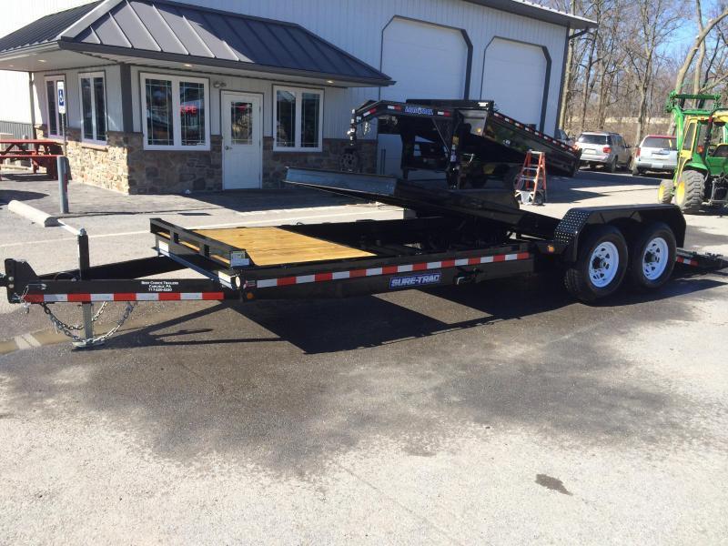 2018 Sure-Trac 7x18+4' Tilt Bed Equipment Trailer 14000# GVW