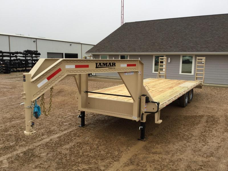 2017 Lamar 102x19+5 F8 Deckover Trailer 14000# MONSTER RAMPS