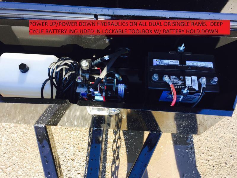 2017 Sure-Trac 6x10' 9900# SD Deckover Dump Trailer