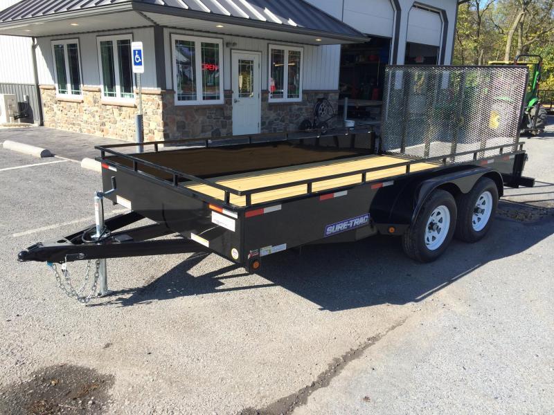 2018 Sure-Trac 7x16' Steel High Side Utility Trailer 7000# GVW
