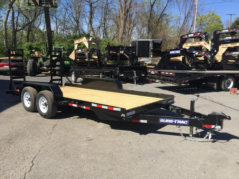 2017 Sure-Trac 7'x18' 9900# Skidsteer Equipment Trailer LOW LOAD ANGLE
