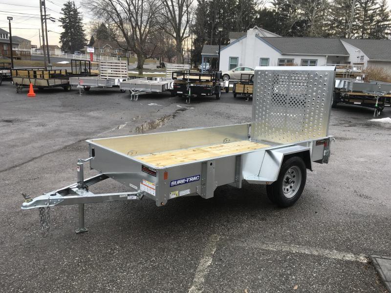 2018 Sure-Trac 5x10' Galvanized High Side Utility Trailer 2990# GVW