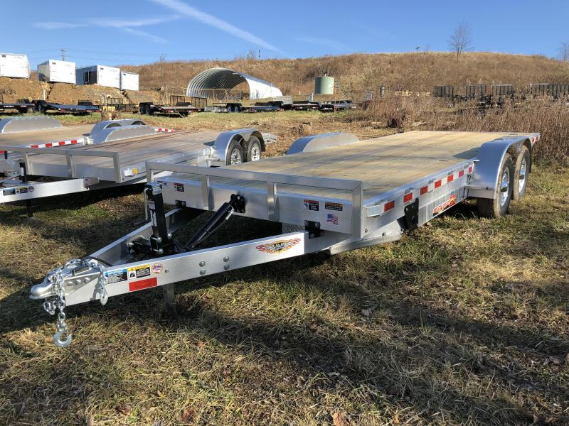 2018 H&H 7x20' Aluminum Power Tilt Car Trailer 9990# GVW