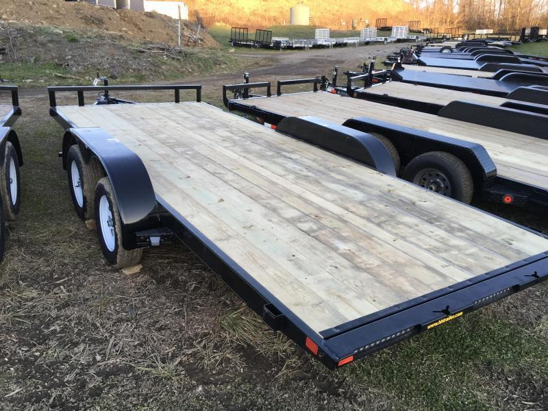 2018 H&H 7x18' MXC Manual Tilt Car Trailer 7000# GVW