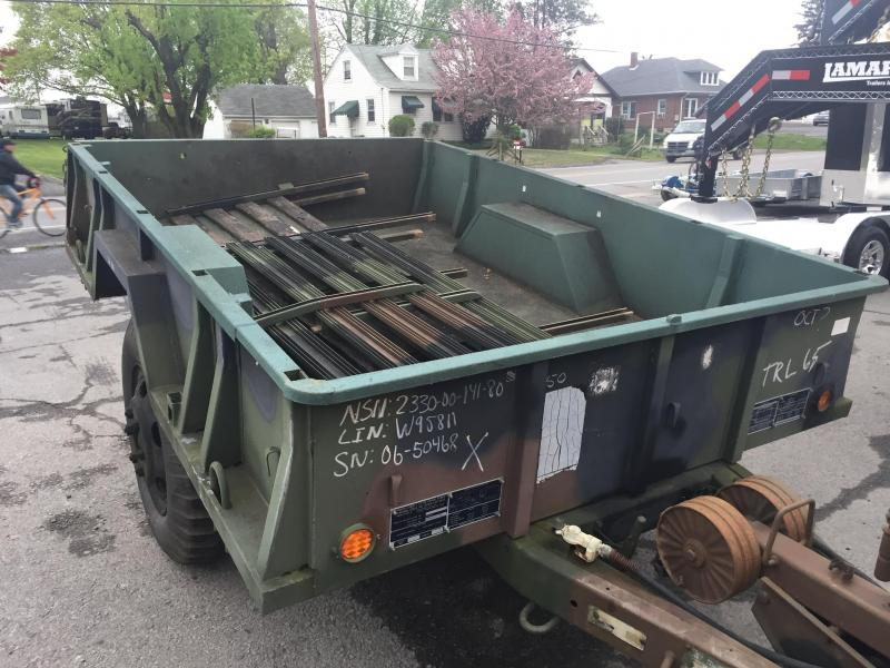 USED 1968 Military Utility Trailer 5750# GVW Yard Cart Wood Hauler