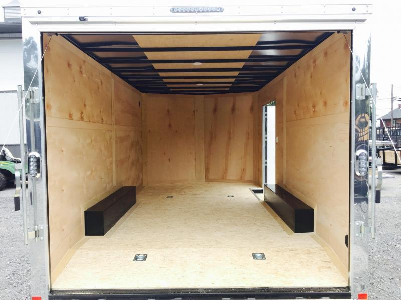 2017 Sure-Trac 8.5x24' 9900# STWCH Commercial Enclosed Cargo Trailer V-NOSE RAMP DOOR WHITE ALUMINUM WHEELS