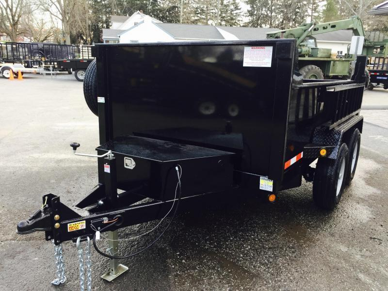 2017 QSA 6x10' 9850# Low Profile SD Dump Trailer w/ RAMPS
