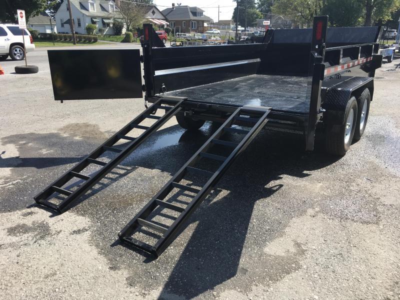 2018 Sure-Trac 7x12' HD LowPro Dump Trailer 12000# GVW - SCISSOR HOIST - ST8212HLOD-B-120
