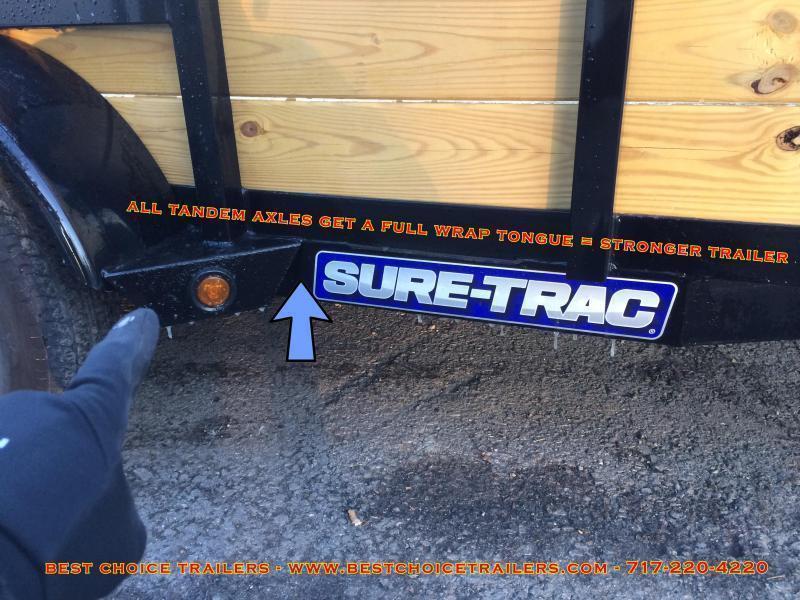 2017 Sure-Trac 7x14' Tube Top Three Board High Side Landscape Utility Trailer 7000# GVW