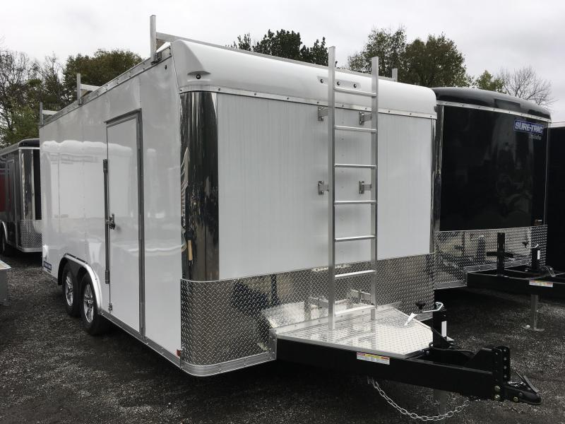 2017 Sure-Trac 8.5x16' Contractor Pro Enclosed Trailer 7000# GVW