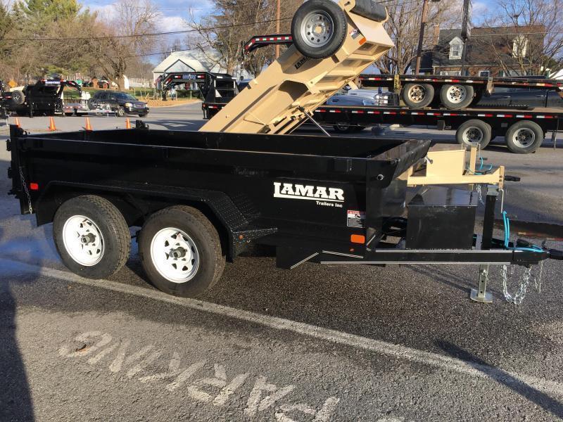 2018 Lamar 5x10 Low Profile Dump Trailer 7000# GVW - SPREADER GATE - GRAY