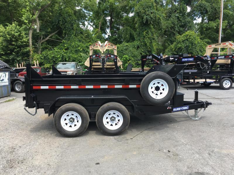 2018 Sure-Trac 6x10' LP Hydraulic Dump Trailer 9900# GVW DROP LEG JACK UNDERMOUNT RAMPS COMBO GATE