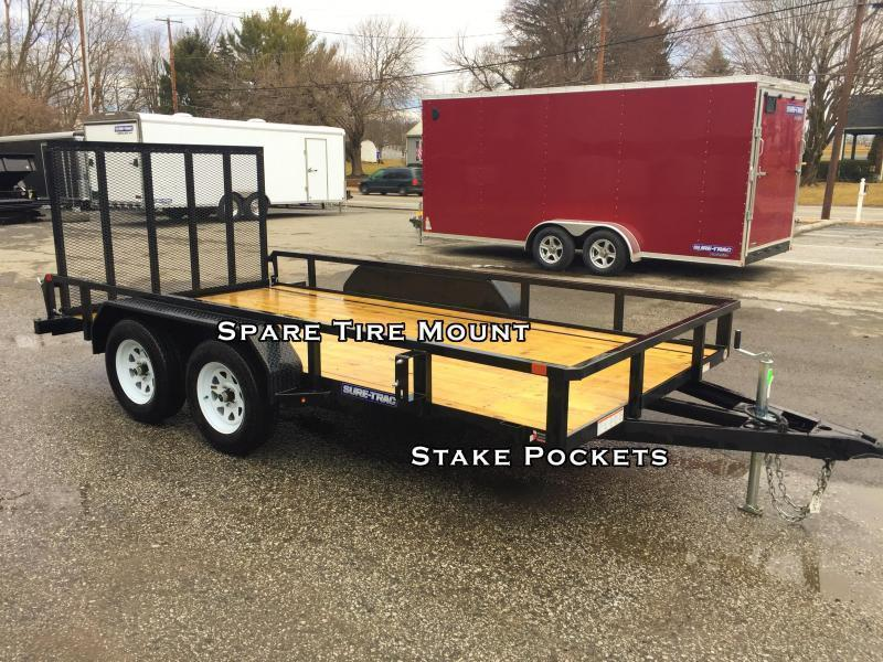 2018 Sure-Trac 7x18' Tube Top Utility Trailer 7000# GVW