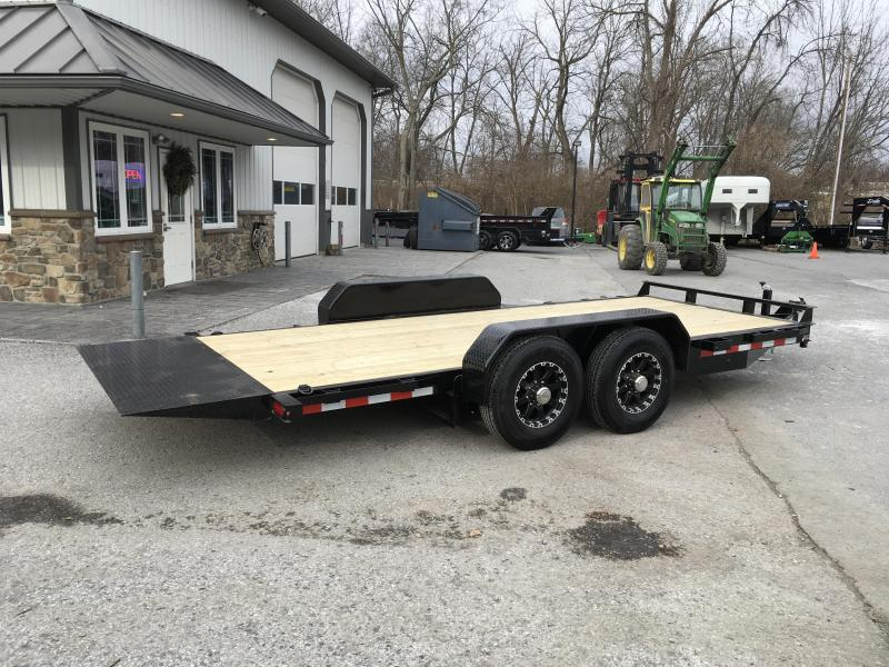 2018 Sure-Trac Tilt Bed Equipment Trailer 7'x18' 14000# OAK DECKING