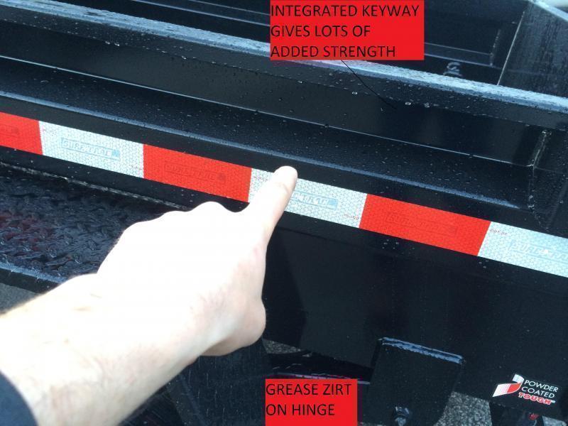 2018 Sure-Trac 6x10' 7000# SD Deckover Dump Trailer