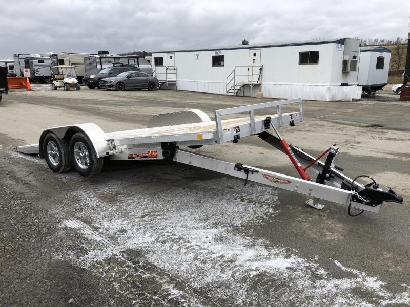 2018 H&H 7x18' Aluminum Manual Tilt Car Trailer 7000# GVW